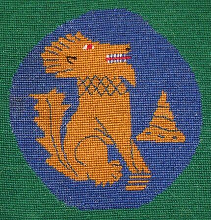 Chindit motif on Kendal Parish Church kneeler cushions.jpg