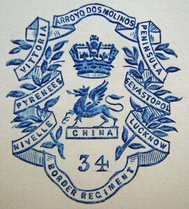 34th Regiment of Foot (1st Border Regiment) letterhead crest.jpg