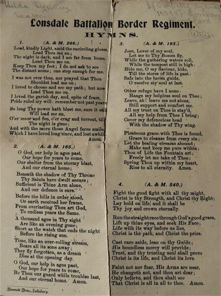 Lonsdale Battalion hymn sheet.jpg