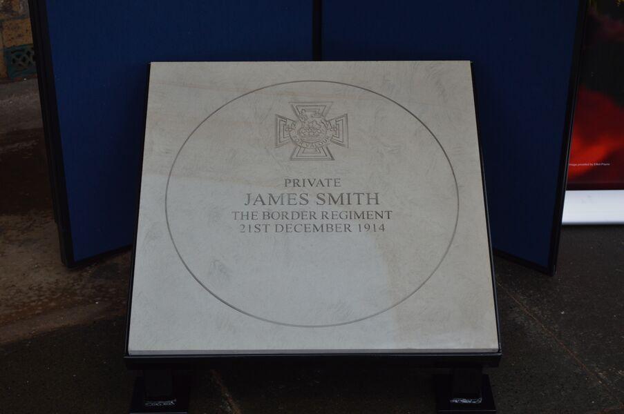 Pte. James Smith VC commemorative paving stone.jpg