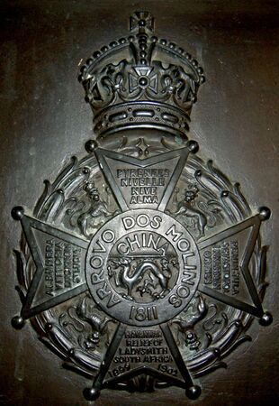 Border Regiment WW1 Bronze Crest Memorial Plaque in Kendal Parish Church.jpg