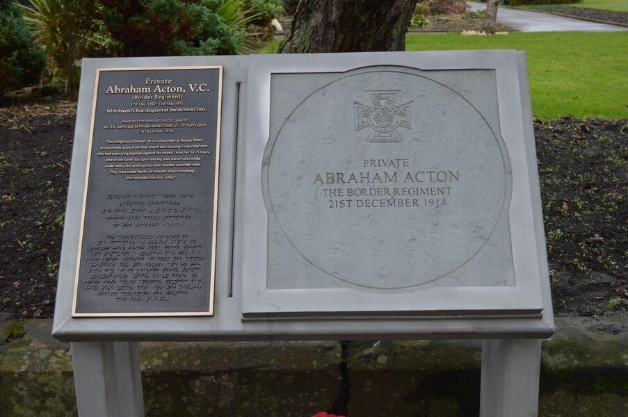 Pte. Abraham Acton VC commemorative paving.jpg